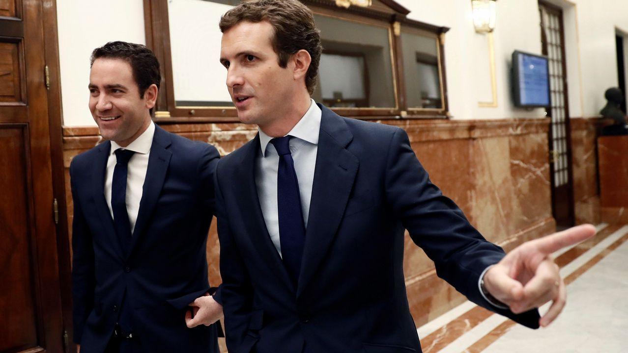 Casado a Sánchez: «El apaciguamiento ya no es posible, ponga orden en Cataluña»