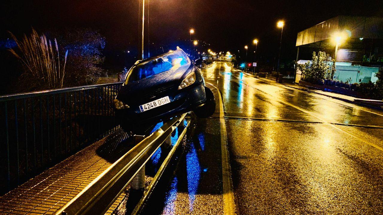 Detenida una conductora que chocó ebria en Gijón