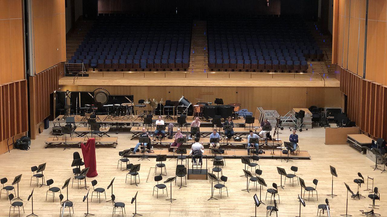 La OSPA graba La noche celta en el Auditorio