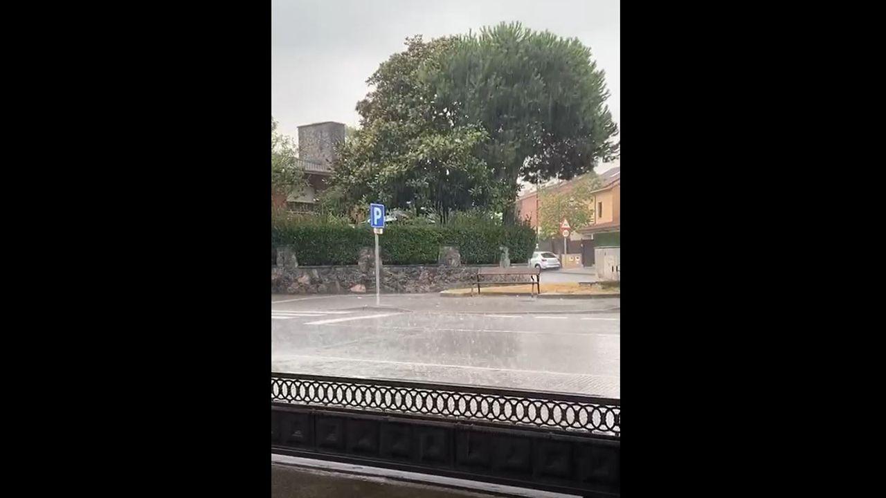 La tormenta de verano en Piedras Blancas