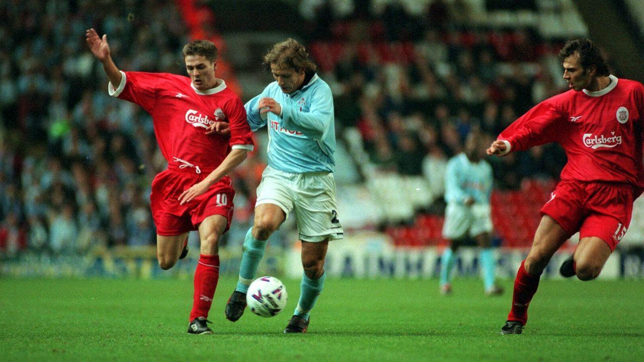 Eliminatoria frente al Liverpool UEFA en 1998