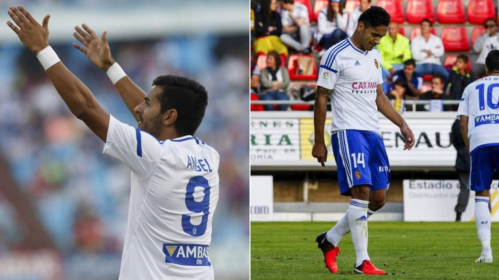 Ángel y Marcelo Silva, jugadores del Zaragoza