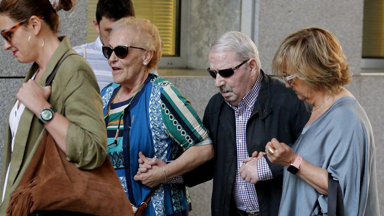 El ex secretario general del sindicato minero SOMA-FITAG-UGT, José Ángel Fernández Villa, a su llegada a dependencias forense de los Juzgados de Oviedo