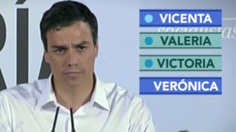 Pedro Sánchez cambia a Juana por Valeria