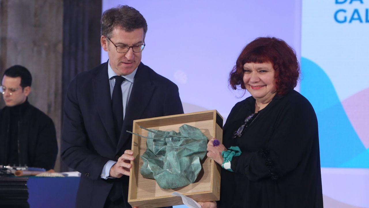 Feijoo entrega o premio a Luz Darriba