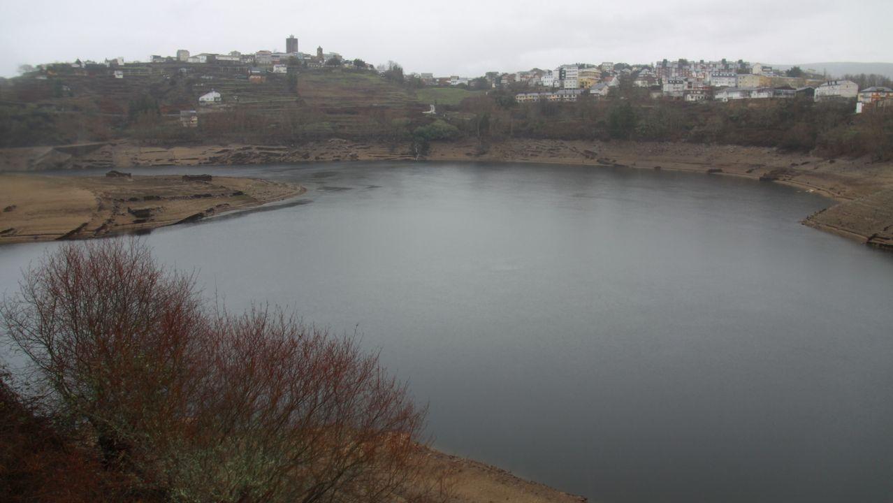 Embalse de O Bao en Viana do Bolo con más agua despues de las últimas lluvias