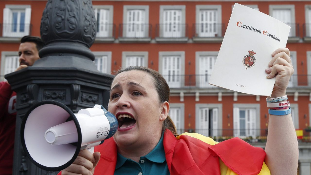 Referendo ilegal de Cataluña. Protesta en Madrid