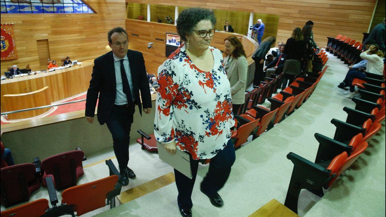 Milagros Otero en el Parlamento en una foto de archivo