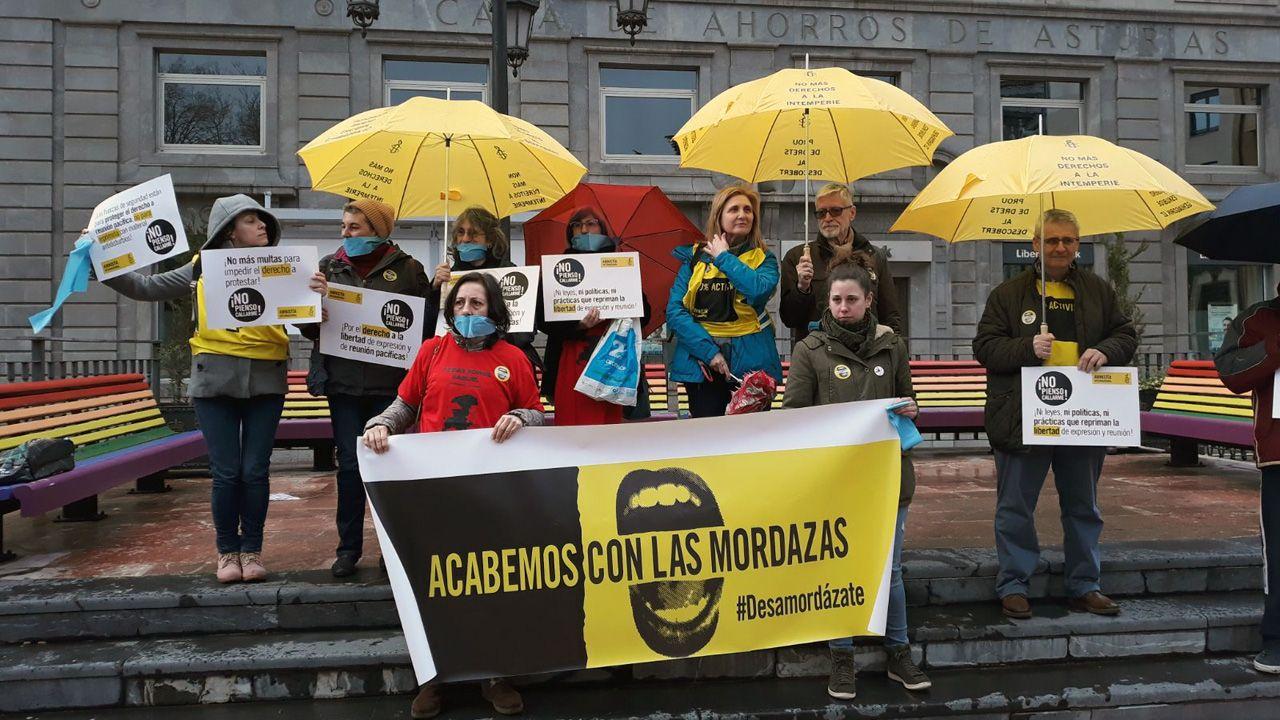 Movilización en contra de la Ley Mordaza