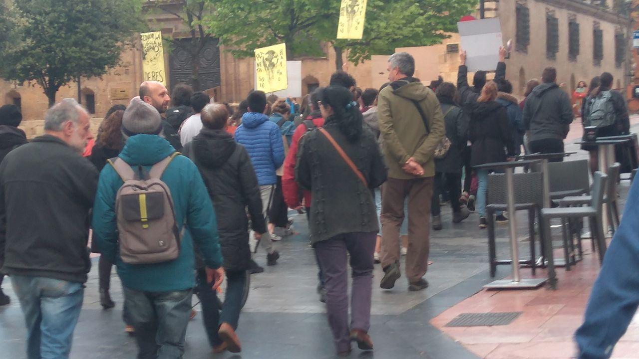 Manifestación en contra del cambio climático en Oviedo