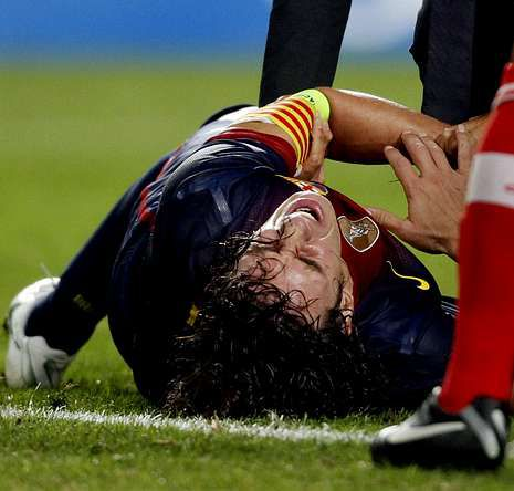 Pellegrini: «El domingo va a ser una emoción muy especial».Puyol ha sufrido cuatro lesiones esta temporada.