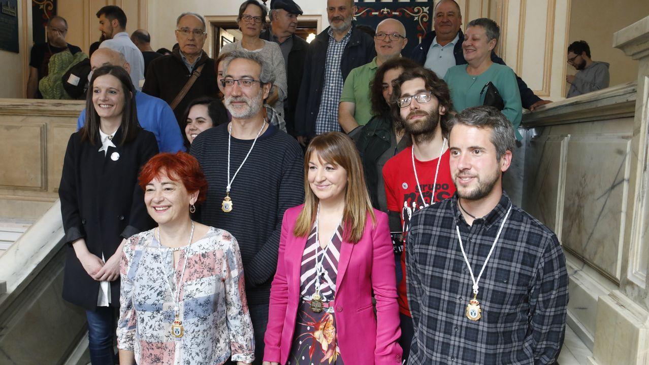 Gala de los premios de la Denominación de Orixe Ribeiro.Alcoa, manifestación