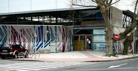 Recreación del proyecto de Diego Germade para el pabellón universitario pontevedrés.