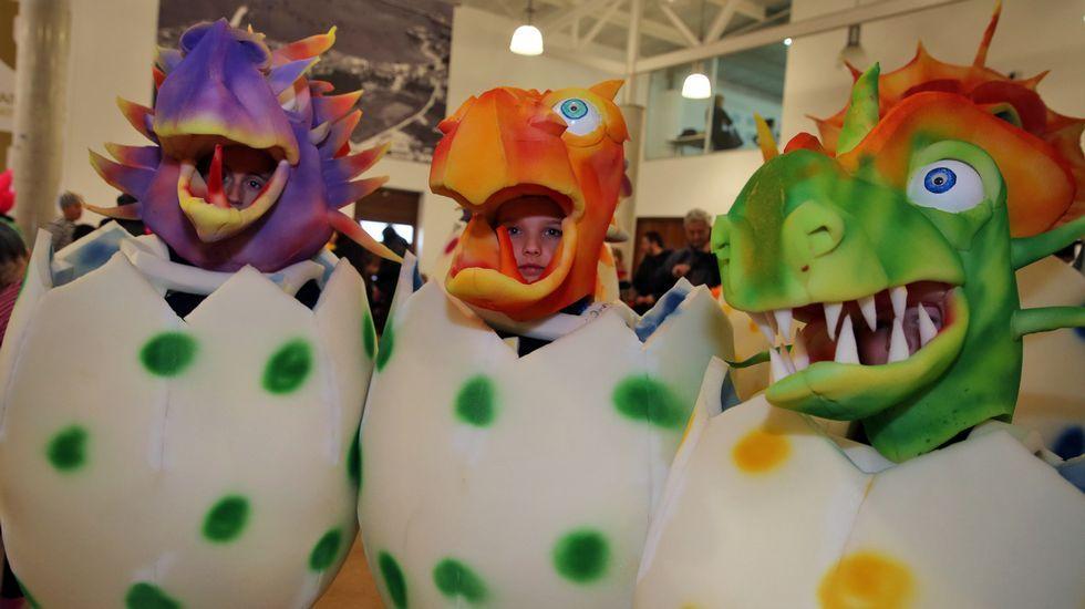 Baile del lunes de carnaval en Peña, en Cambados
