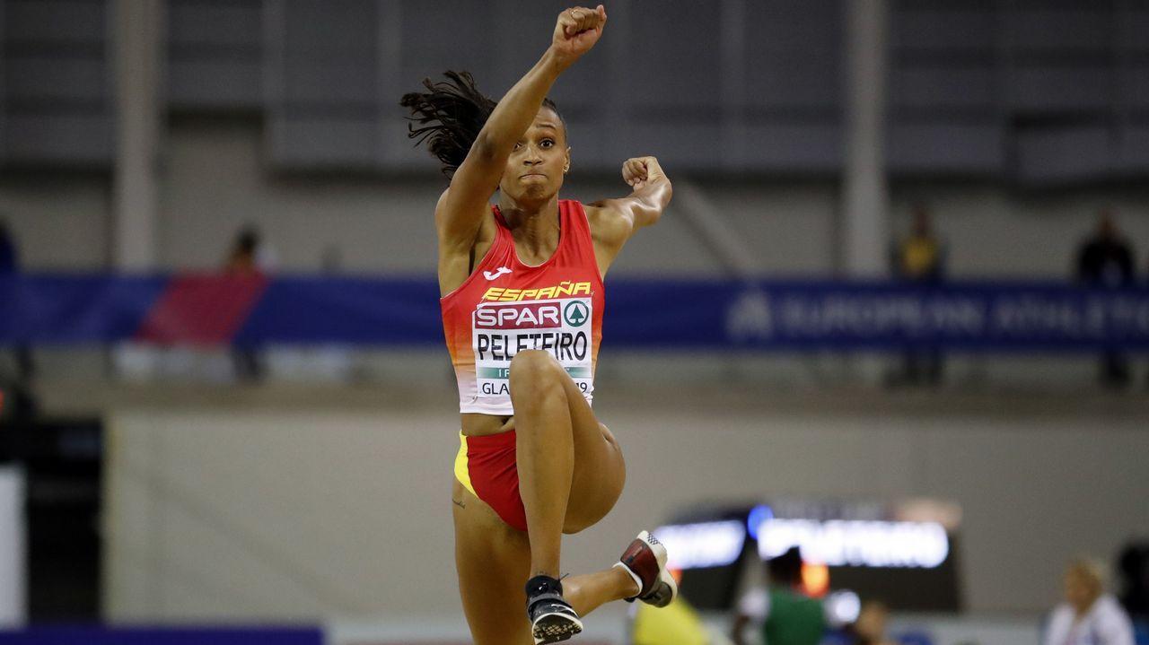 Ana Peleteiro: 3,49 metros de mejora en nueve años.Ana Peleteiro