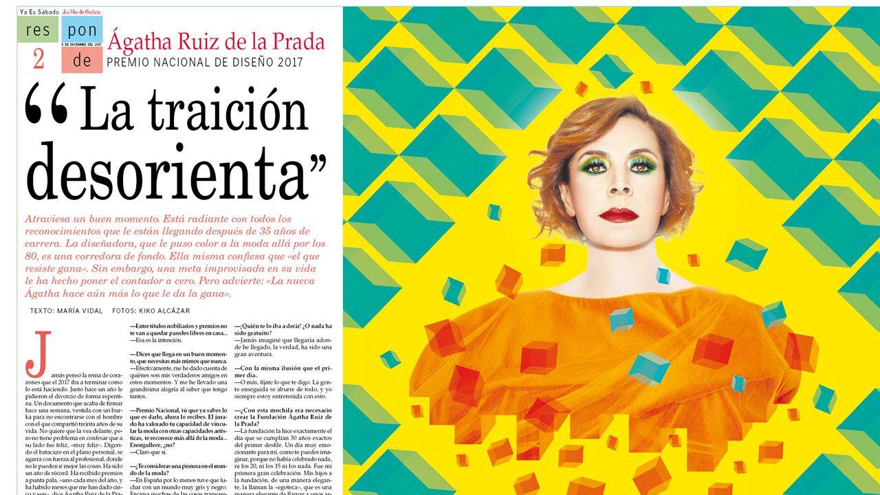 Un canto a España en el desfile de Agatha Ruiz de la Prada.Fernando Alonso promociona Asturias en #SpainIn10sec