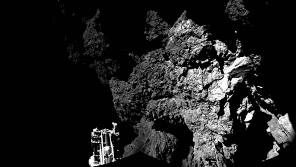 Primera imagen captada por Philae del cometa