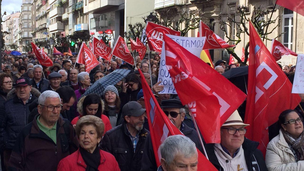 Manifestación por las calles de Ourense