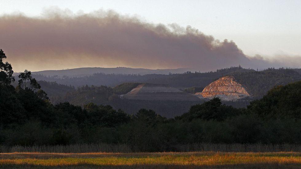 Masiva tractorada en Ordes.Incendio en Trazo y Val do Dubra