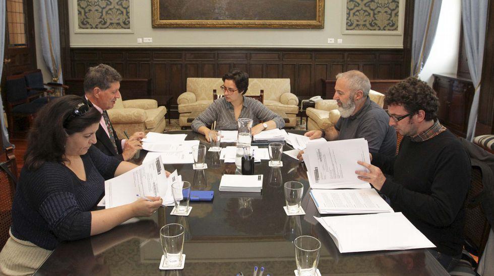 La Comisión de Honores del Ayuntamiento de A Coruña reunida esta mañana
