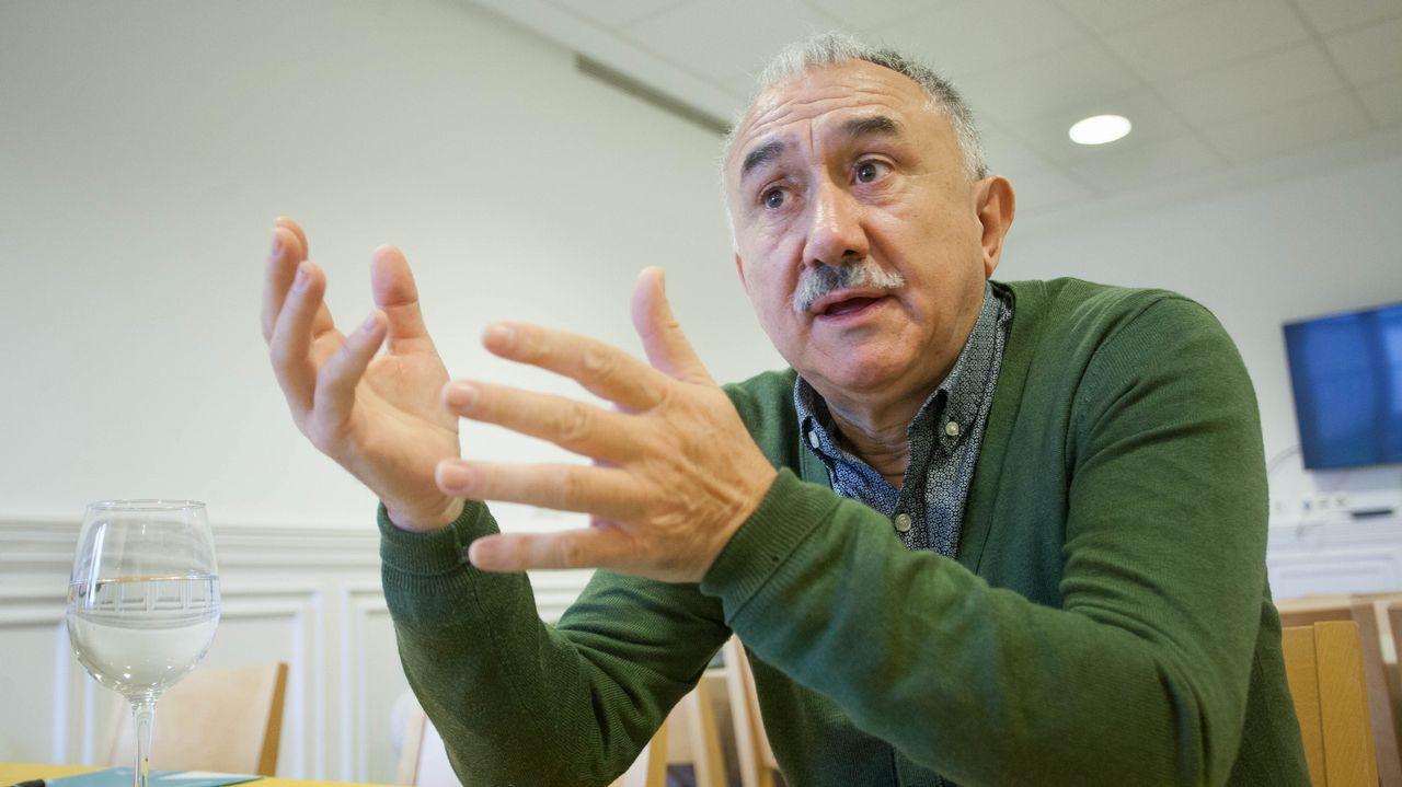 Álvarez ha estado esta semana en Lugo para apoyar a la exdelegada de UGT en Sargadelos