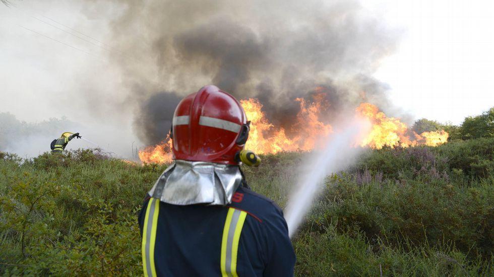 El incendio de Cualedro, anoche