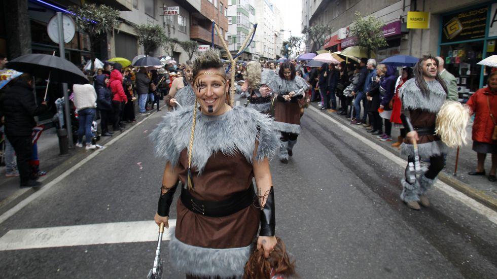 Los vikingos del Anpa del Colexio Novo fueron segundo en la categoría de comparsas de más de noventa integrantes
