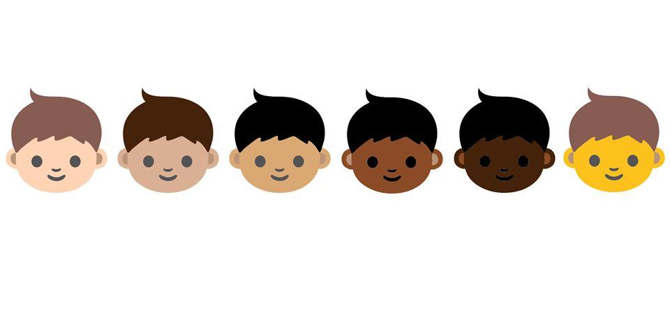 Nuevos emojis con distintos colores de piel