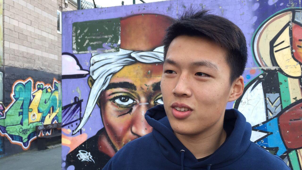 Jugador chino del ourense club de futbol