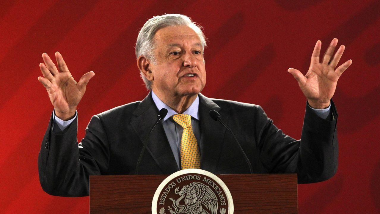 Una vecina de Cangas, entre las víctimas mortales del accidente del Boeing en Etiopía. López Obrador, durante su rueda de prensa matutina en Palacio Nacional en Ciudad de México