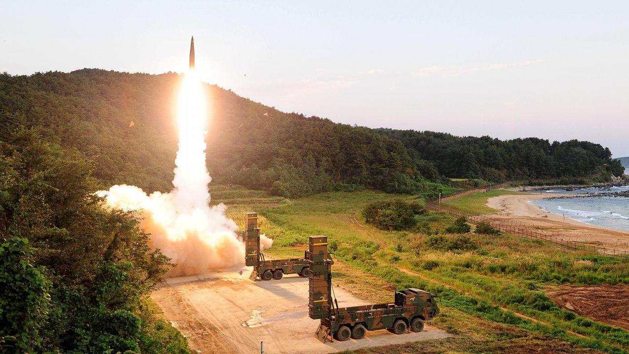.Fotografia distribuida por el ministerio de Defensa de Corea del Sur