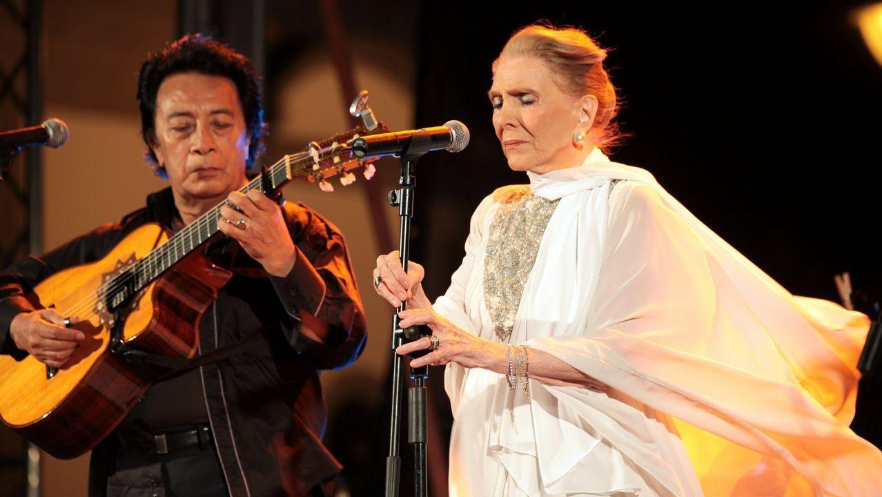 Maria Dolores Pradera en Carballo en el 2010
