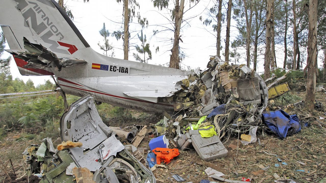 Avioneta que trabajaba para la Organización Nacional de Transplantes se estrelló cerca del aeropuerto de Lavacolla en el 2012. El accidente costó la vida a los dos tripulantes.