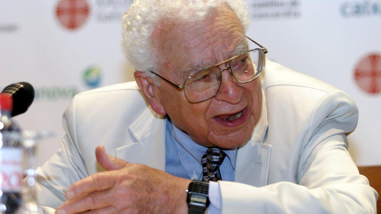 Murray Gell-Mann, en una conferencia ofrecida en Santiago en el 2005