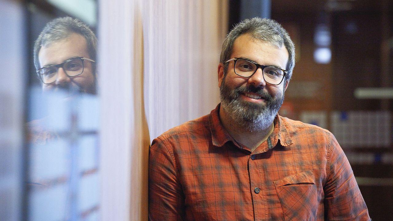 .El responsable de Organización de Podemos Astures, Xuacu Rodríguez.
