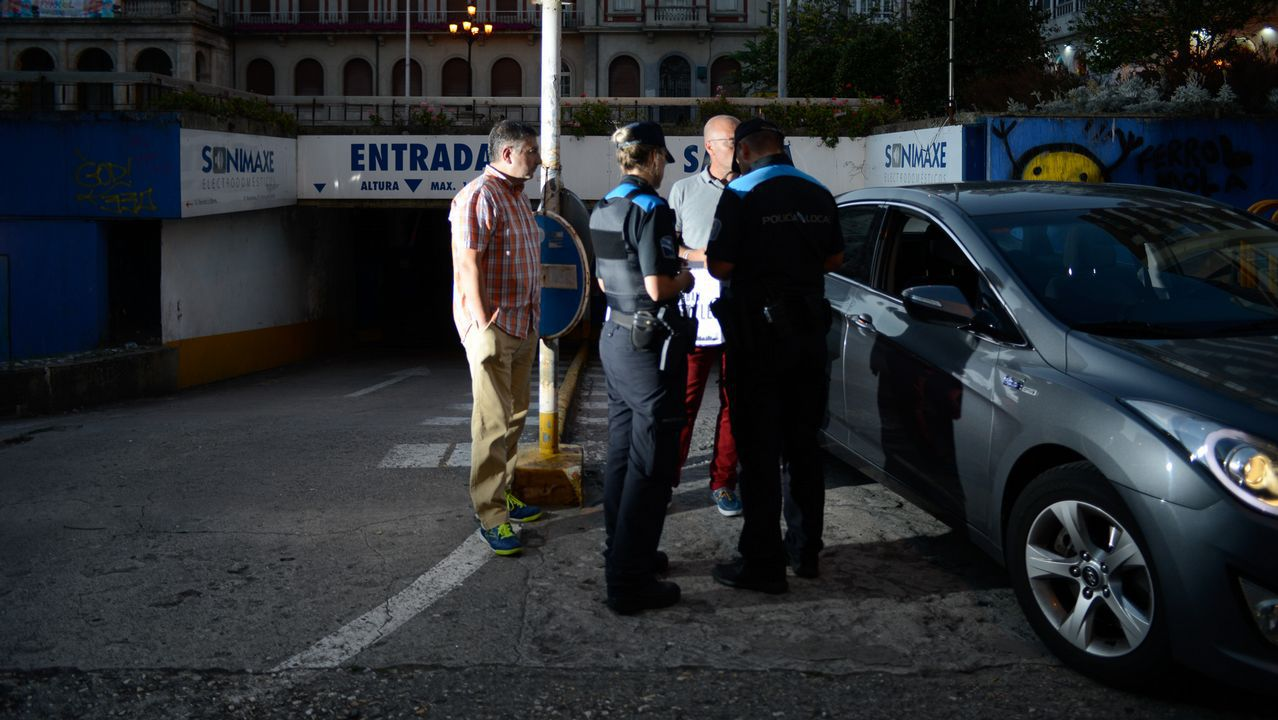 31 de agosto. Entrega de llaves del párking a la Policía Municipal.