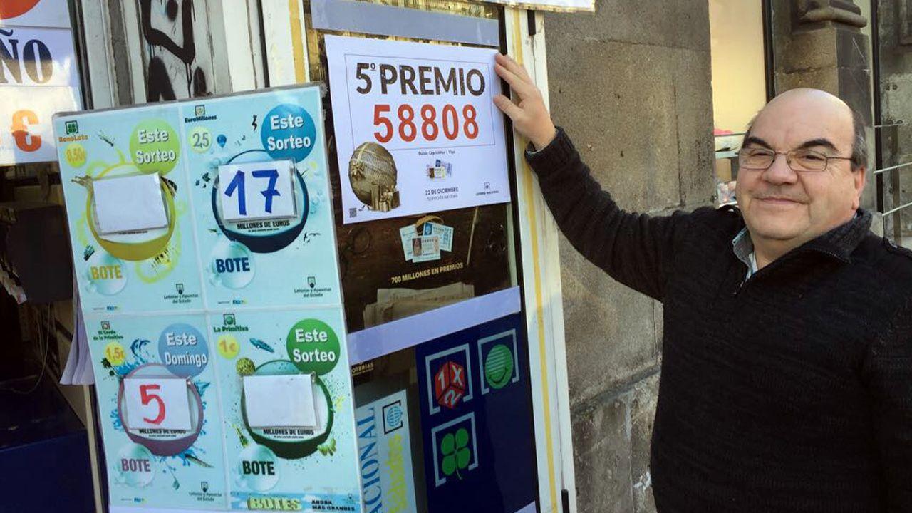 En la Porta do Sol de Vigo vendieron un quinto premio de la loteria de Navidad