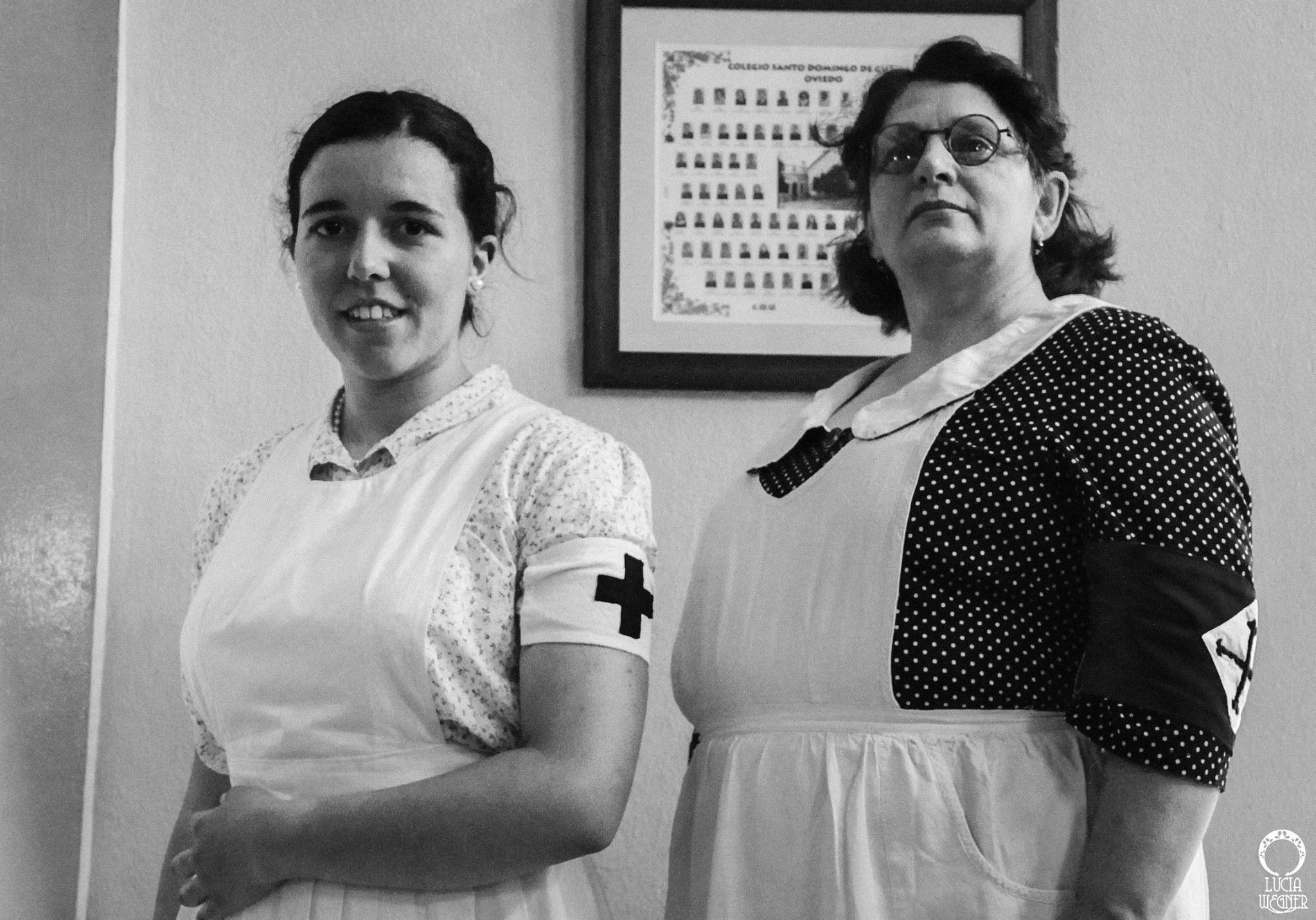Recreación de la enfermería en la Guerra Civil