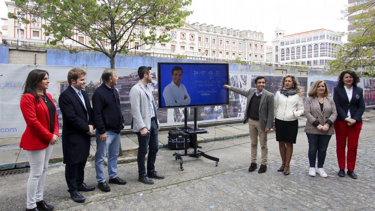 Los nuevos elementos del mobiliario urbano de Ferrol Vello