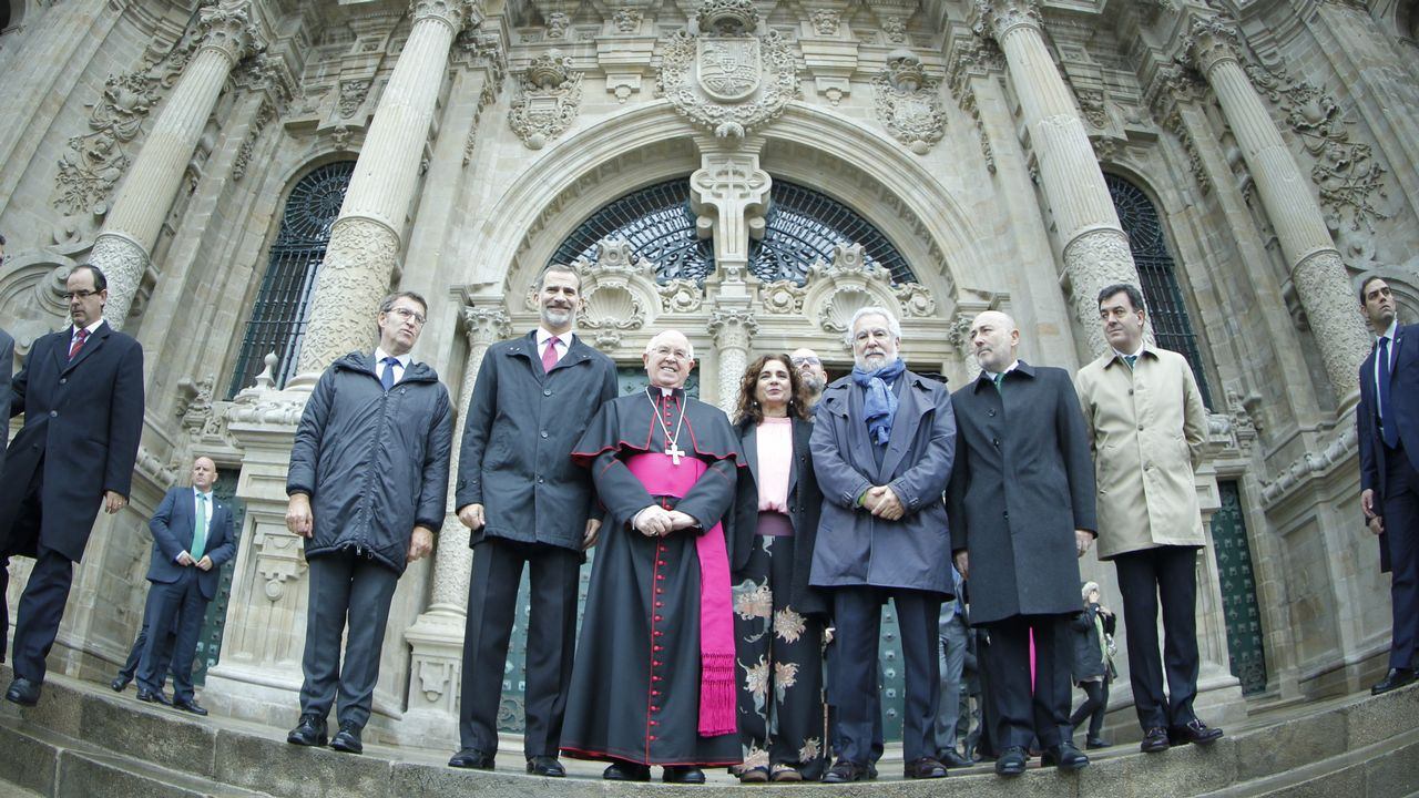 El Rey visita las obras de la Catedral y se muestra «maravillado» con el Pórtico.Macron ha dedicado toda la semana a recorrer los escenarios de la Primera Guerra Mundial en el norte del país