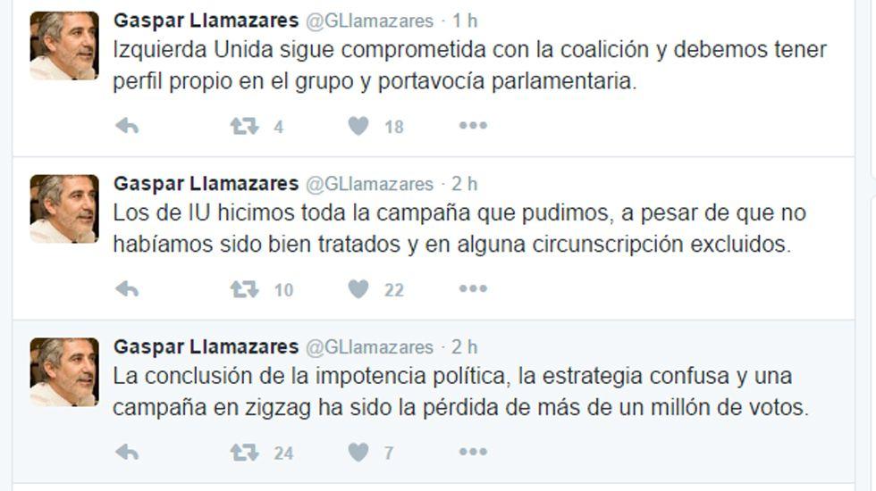 Centro penitenciario de Villabona.Algunos de los tuits lanzados por Llamazares contra Podemos