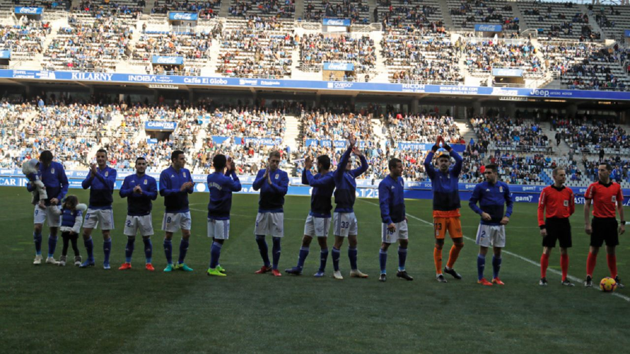 Alineacion Real Oviedo Cadiz Carlos Tartiere.Sergio Egea durante el Real Oviedo-Granada