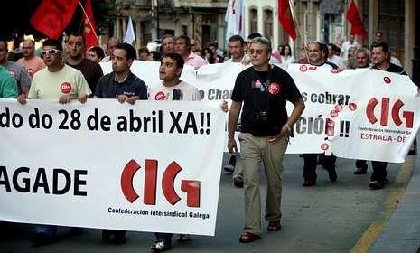 En el 2010 los trabajadores despedidos protestaron exigiendo el pago de las indemnizaciones.