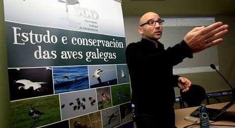 Xabier Vázquez explicó como afectó un parque eólico de Lugo a una colina de aguiluchos.