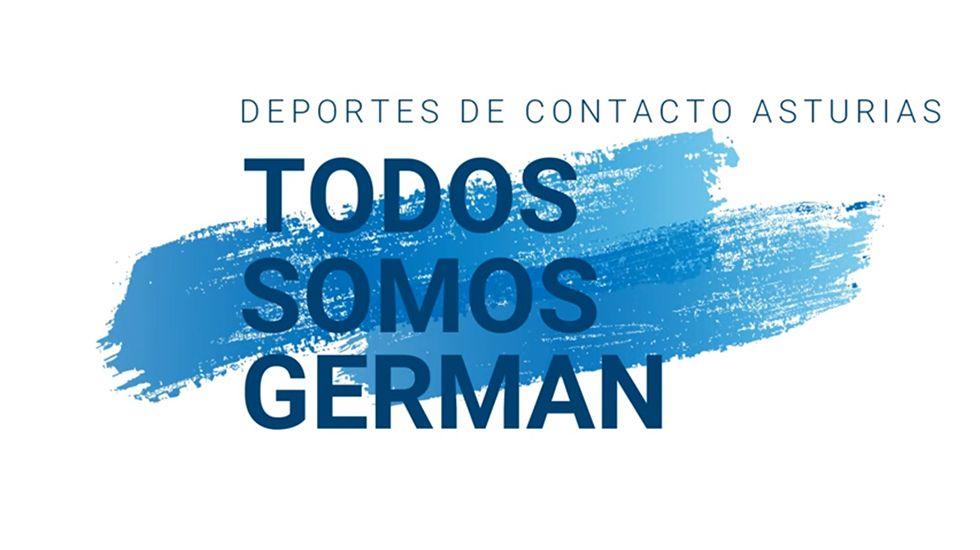 .Cartel de apoyo a Germán.