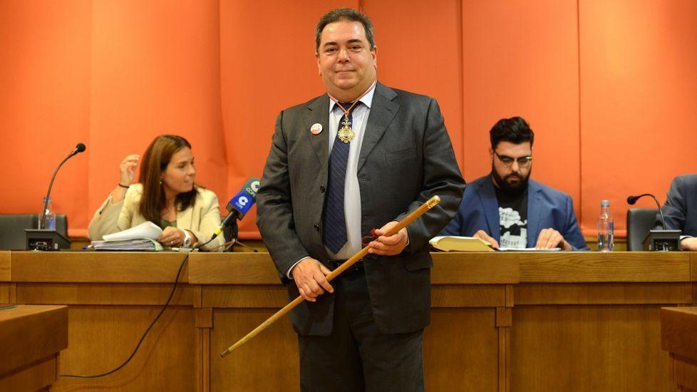 Gerardo Seoane fue elegido alcalde en 2015 con el apoyo del BNG
