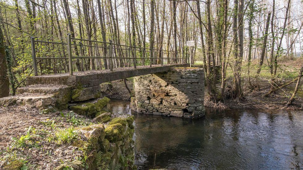 Puente sobre el Cabe en el campo de San Mateo, donde se celebra una popular romería el 21 de septiembre