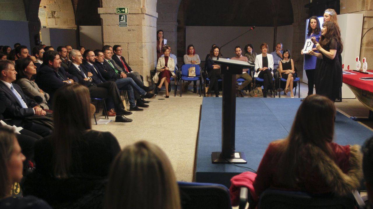 El fundador de Asturfeito, Belarmino Feito, atiende a los medios tras ser elegido hoy nuevo presidente de la Federación Asturiana de Empresarios (FADE)