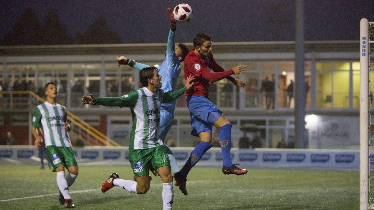 Un jugador del Bergantiños, en el encuentro disputado la semana pasada ante el Somozas