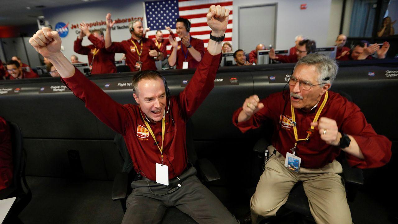 La celebración del aterrizaje de la nave InSight en Marte